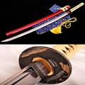 Handmade katana samurai japanese sword High Carbon Steel Alloy fittings Full Tang Furniture decoration Tactical training