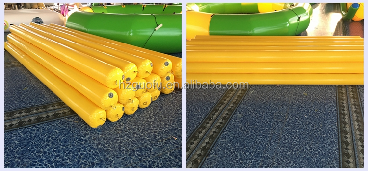 Customized Durable PVC Inflatable Long Water Marker Buoy Pontoons Tubes for Waterpark