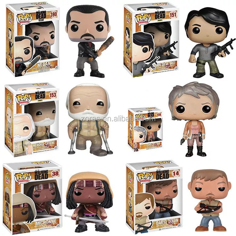 ZORAS Funko Pop Vinyl Personality Cartoon Design Model The Walking Dead Figure Toy with Colorful Gift Box Pakcing
