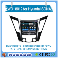 WISDOM Car dvd player For hyundai SONATA i40/i45/i50/YF car gps navigation system 2011 2012 car accessories