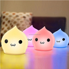 2016 Waterdrop Silicon Night Light LED Colorful Changing Night Light Sensitive Tap Control Christmas Gift for every night