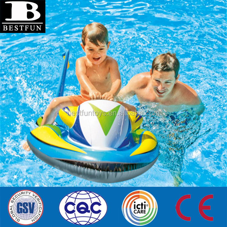 durable thick PVC kids inflatable wave rider ride-on jet ski with heavy duty handle