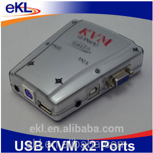 2 ports KVM switches 2 input 1 output with audio
