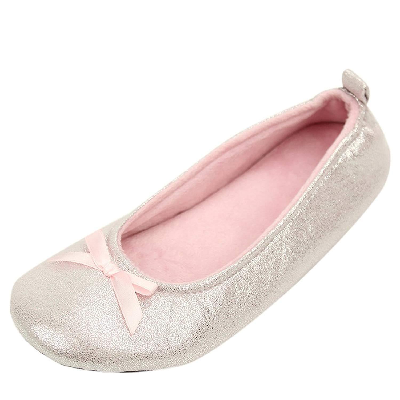 98d3a9b340141 Buy Home Slipper Womens Ballerina Plush Soft Sole Indoor House ...