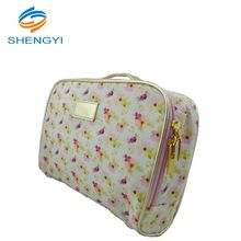 Cute eco beauty color selectable custom girls cosmetic bag