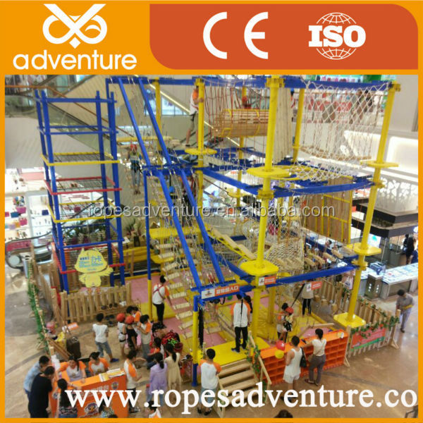 Fashionable adventure plaground games indoor fitness equipment climbing rope course
