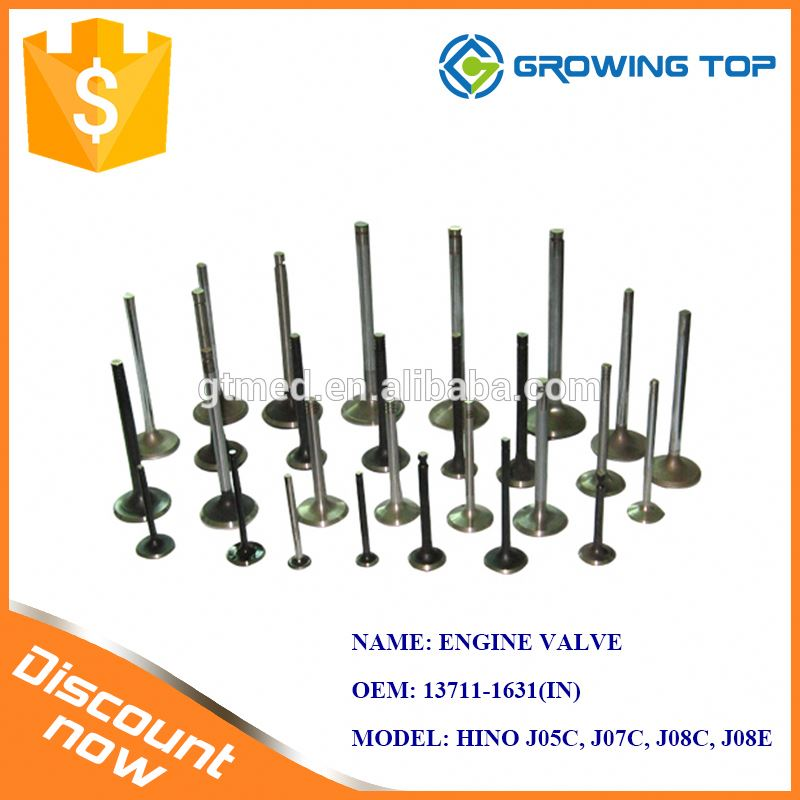 Heavy Truck Parts 13711-1631 Engine Valve Suppliers for HINO
