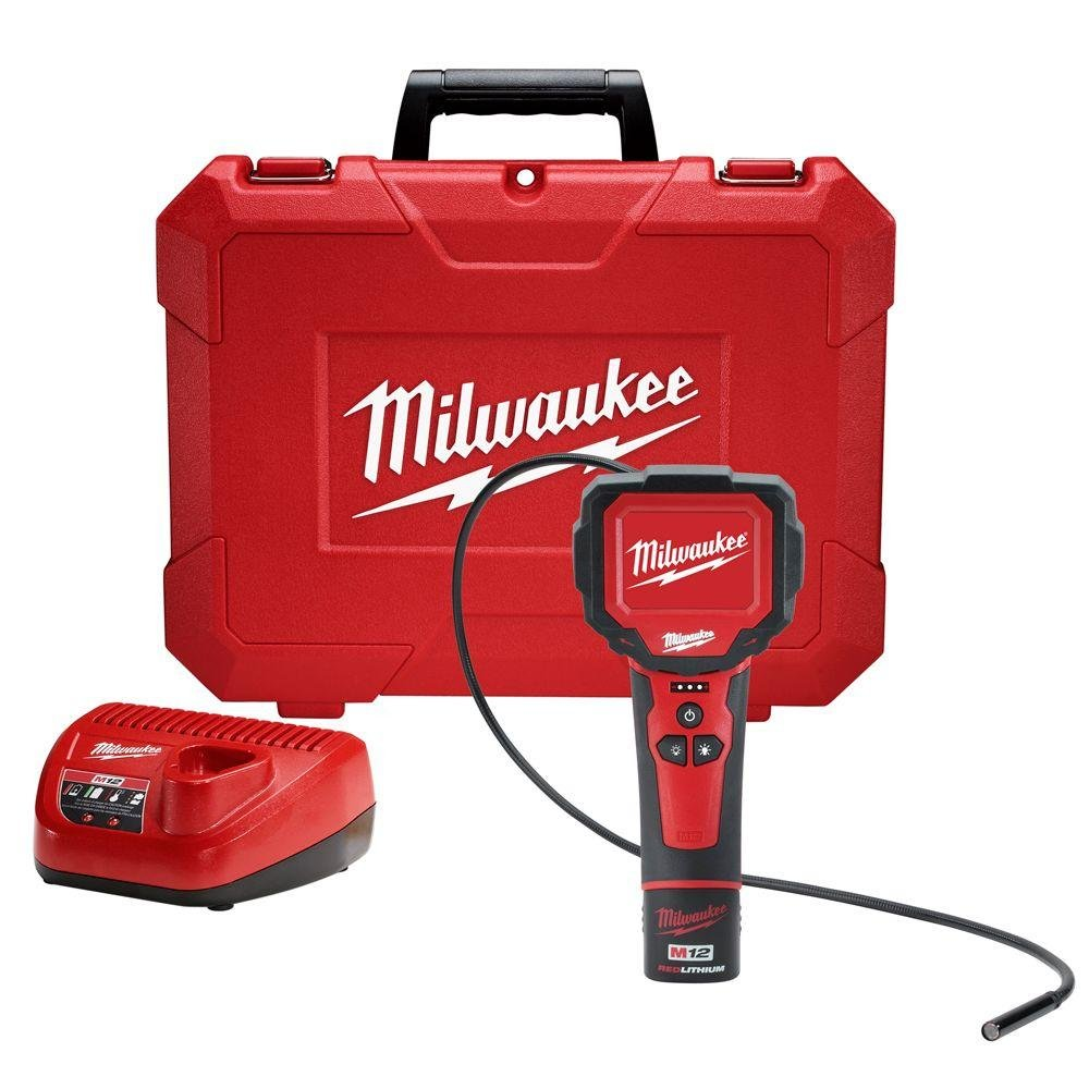 Milwaukee M12 12-Volt Lithium-Ion Cordless M-Spector 360 Degree Digital Inspection Camera Kit | Hardware Power Tools for Your Construction or Jobsite Needs