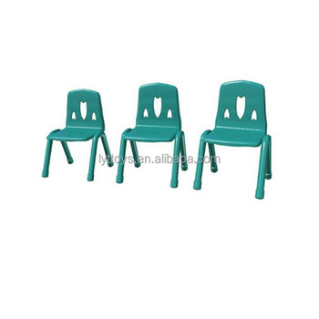 Cheap kindergarten furniture plastic chair adjustable kids table and chair