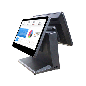 Touch POS 15.6 inch White touch screen cashier machine 4GB RAM all in one pos system