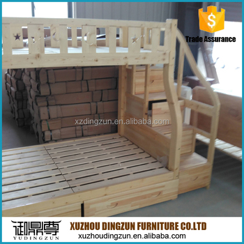 Good Quality Solid Wood Heavy Duty Bunk Bed For Children And
