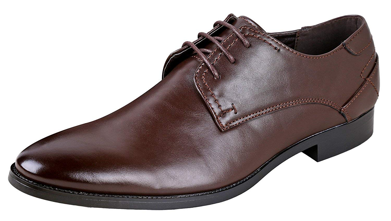 Urban Fox Men's Vincent Oxford Dress Shoes for Men| Lace Up Oxfords | Mens Oxford | Classic Mens Dress Shoes