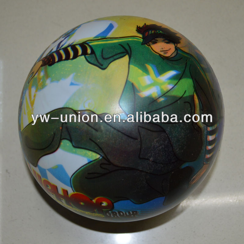 PVC full printed balls stress toys/ promotion inflatable pvc ball / inflatable balloons toys for kids
