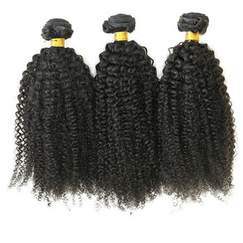 100% virgin brazilian human hair extensions 20inch kinky curly hair weave