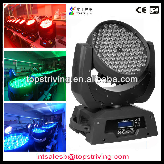 108*3w rgbw led moving wash light moving head led china moving head