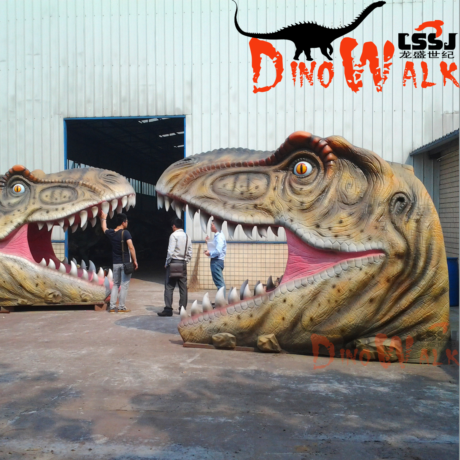 Dino0360 High quality Jurassic park Dinosaur head gate for Amusement Park for decoration