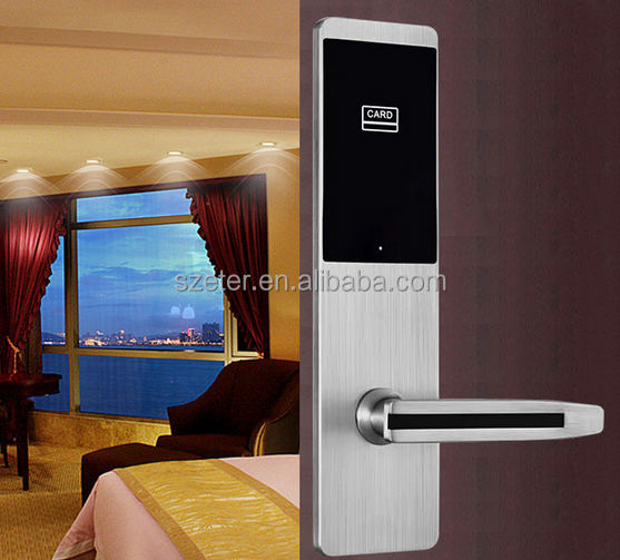 Shenzhen 304 Stainless Steel Electronic Hotel Door Lock RFID Key Card Access Control System