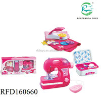 Hot sale kids mini electric sewing machine toy,girls toy sewing machine