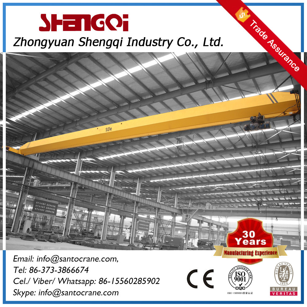 Double Beam Steel Factory Overhead Crane With Lifting Spreaders