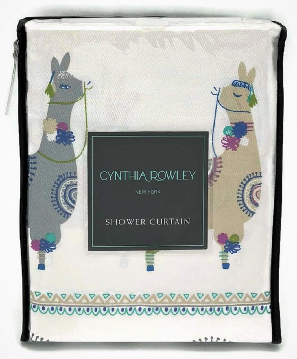Buy Cynthia Rowley Fabric Shower Curtain Stamped Ombre Teal