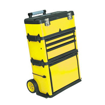 Factory 580x360x720mm 23 Inch Metal Telescopic Handle Tool Box With 150mm Wheels