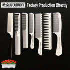 Professional manufacturer white color hair comb Salon Hair-Cutting with black logo(3)