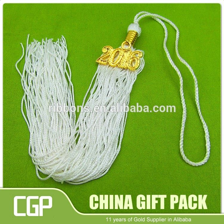High quality colorful mini long decorative tassels with metal cap