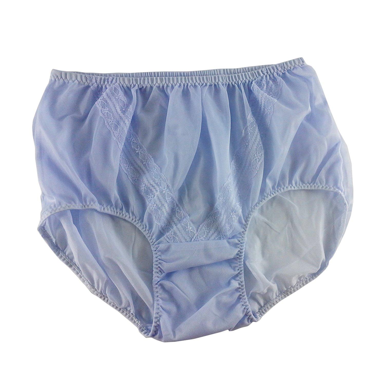 8068a37ca Get Quotations · Retro Fair Purple Floral Lace Panties Briefs Sheer Nylon  Underwear For Women   Men Plus Size