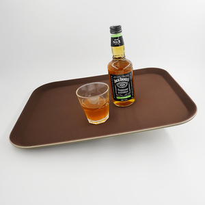 Eco-friendly Brown non slip rotating food tray for table restaurant outdoor furniture