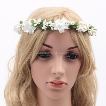 daisy flower headband flower garland tiara wedding crown with flowers  wreath for floral hair women wreath 5dec2190a5d