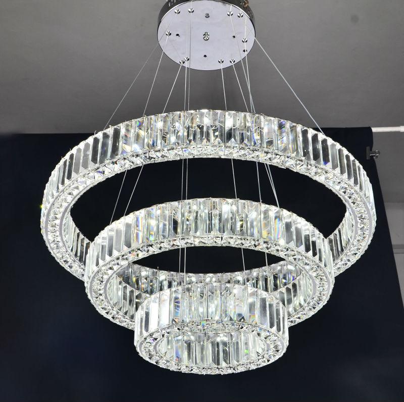 trois anneaux cristal de luxe moderne lustre led clairage lustre id de produit 1895039338. Black Bedroom Furniture Sets. Home Design Ideas