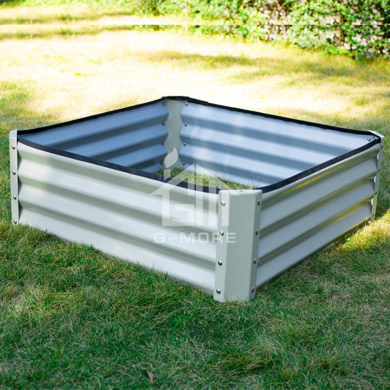 Cheap wholesale rectangular vegetable gardening metal raised bed garden planters
