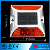 Solar energy sunlight rechargeable led system road stud marker
