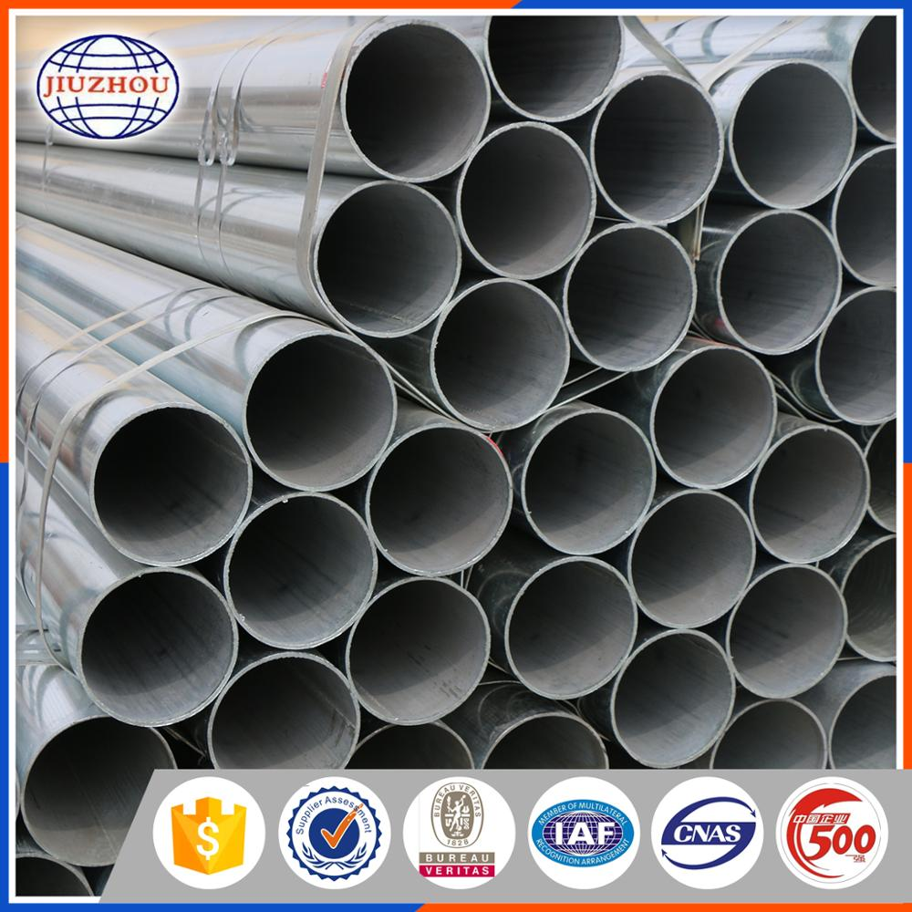 ASTM Standard Hot Dip Zinc Coated Steel Tubular For Greenhouse