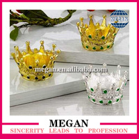 wholesale OEM Golden Tone crown shape Napkin Rings Silver for table decoration