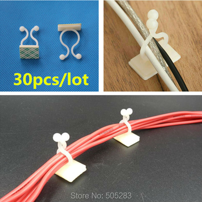 online get cheap wiring harness clips com alibaba group 30pcs nylon cable fix seat tape cable organizer tie mount computer cable clips wire holder cable winder wiring harness hy768 30