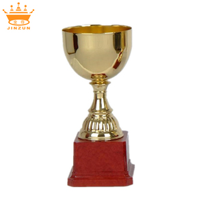 Best price cheap sports school trophy, customized golden trophy cups