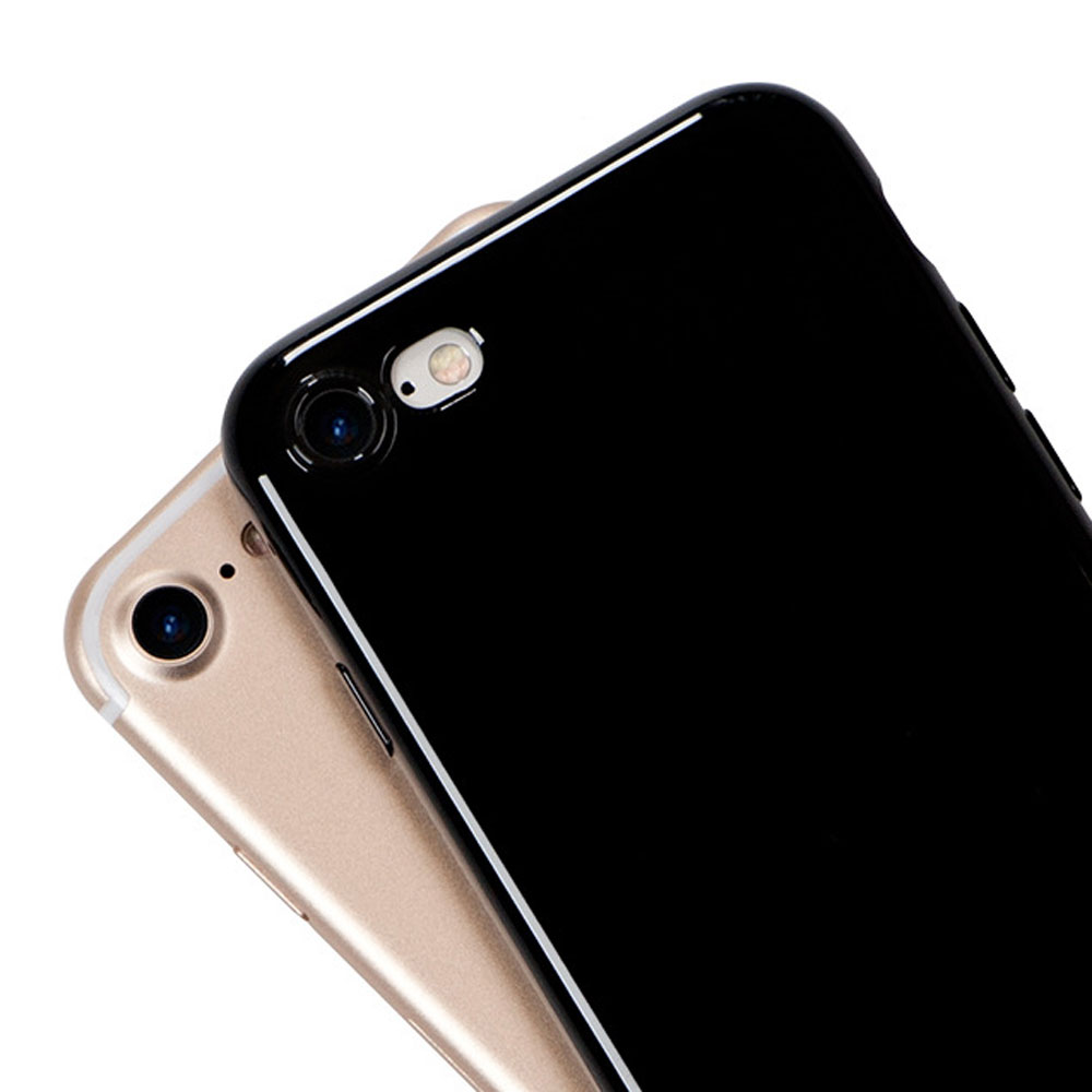 best website 874e5 d809e Jet Black For Iphone 6S Case Soft Glossy Silicone For Iphone 6S Plus 5S SE  Case Protection Phone Cover Shockproof Funda
