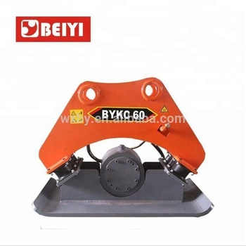 2018 High Quality BYKC60 Hydraulic Vibratory Plate Compactor For Excavators