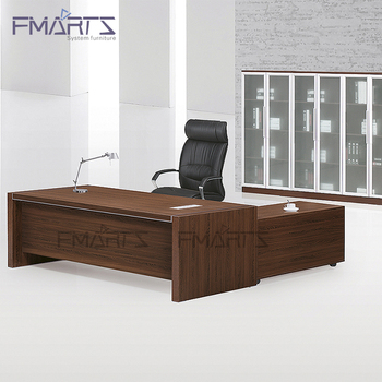 Luxury Black Office Desk Wooden
