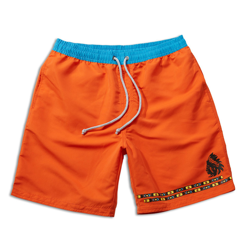 Summer Style Solid Quick Dry Men Swim Shorts Polo Board Shorts Surfing Swimwear Beach Short Bermudas Masculina Orange Blue