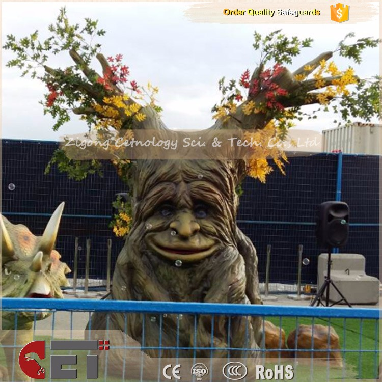 CET-H1467 Attractive human like artificial decorative talking tree for fun