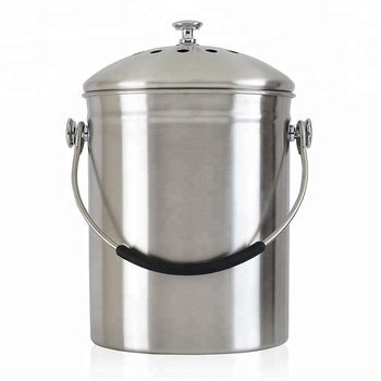 1 3gallon Stainless Steel Compost Pail Kitchen Garden Countertop Bin 2 Free Odor Absorbing
