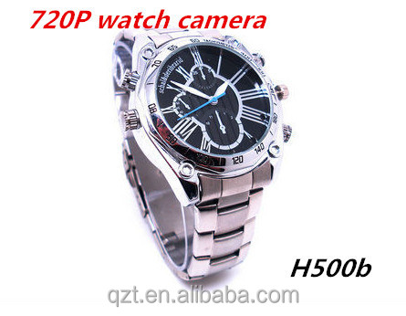 720P hd fashion watch dvr mini spy waterproof wrist watch with camera