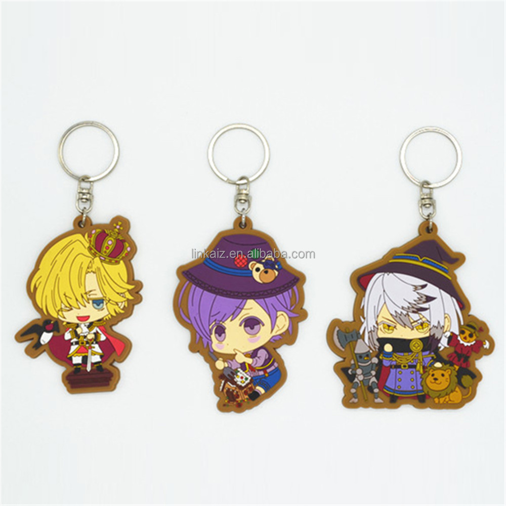 personalized gifts promotional soft pvc anime cartoon character keychains