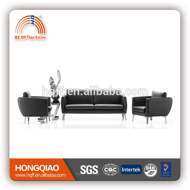 french lounge/leisure leather sofa stainless steel fram office sofa