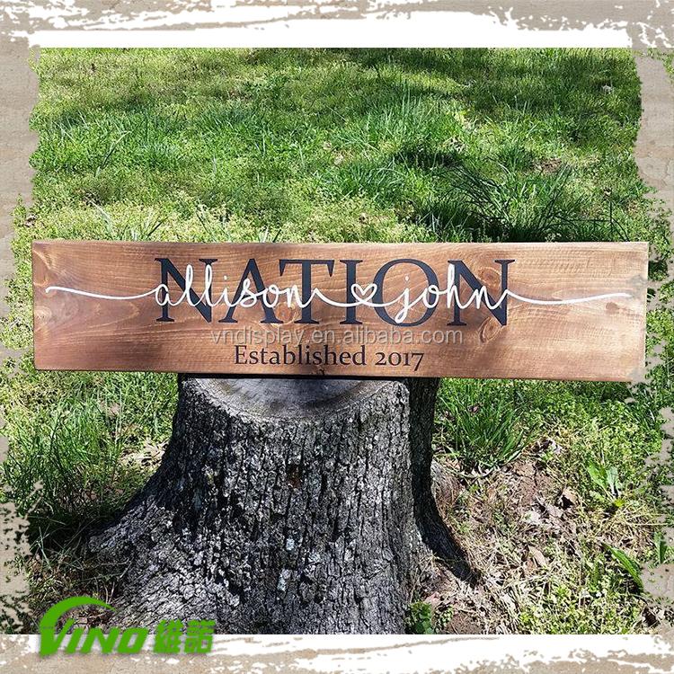Rustic Wood Sign Decor Decorative