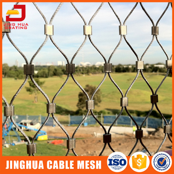 Stainless Steel Wire Rope Fence Mesh With Ce Certificate - Buy ...