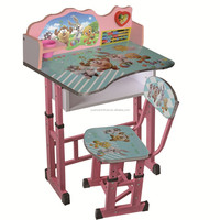 Adjustable desk top kids desk and chair set with low price,XD-309
