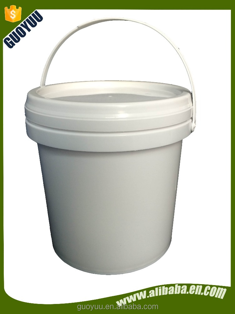 5L White Plastic Pail Bucket Optional Lid